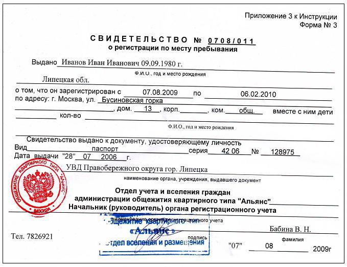 Как сделать временную регистрацию в москве для граждан рф официально уфмс